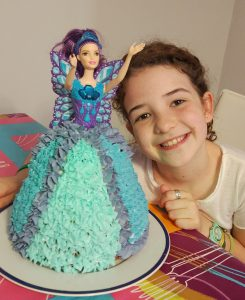 Pastel Muñeca Barbie Mariposa