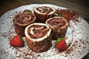 Pastelitos de Cacao y Fresas